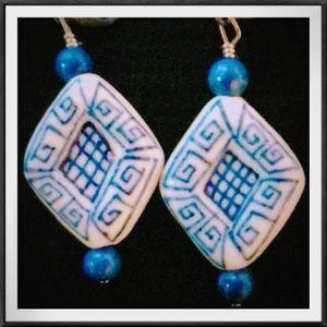 NWOT Porcelain necklace and earring set